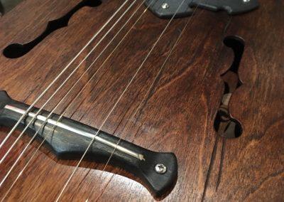 E-Gitarre mittelalter Design, Detailansicht